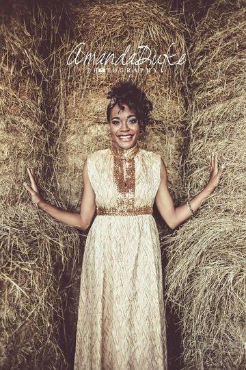 Bride among haystack