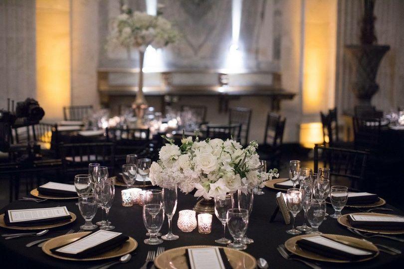 Indoor formal tablescape