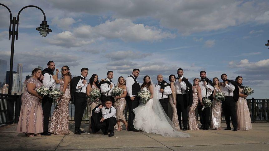 Everyone posing