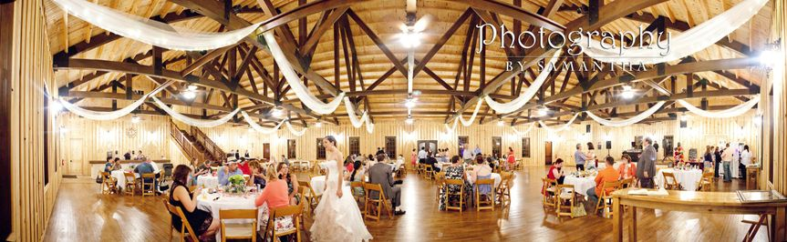 Panorama of the reception hall at Bella springs.