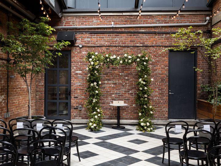 Tmx Wythe Hotel Classic White Green Wedding 12 51 999658 Brooklyn, NY wedding florist