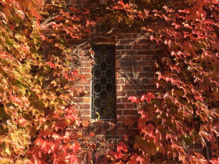 Old Base Chapel Plattsburgh, NY - Ground View. Beautiful foliage
