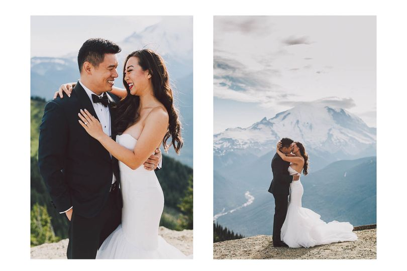 Gorgeous bridal session on top of a mountain! Get in touch with me today and let's create something...