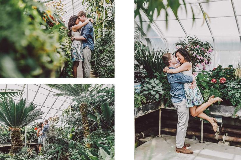 volunteer park conservatory engagement session lum