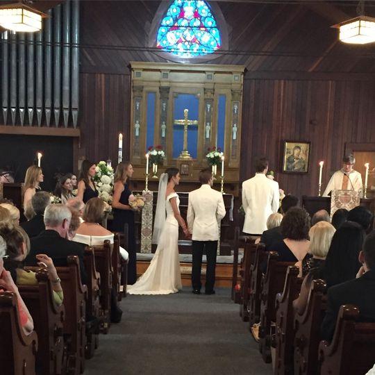 Beautiful church vows