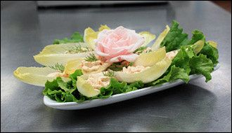 belgian endive with salmon mousse