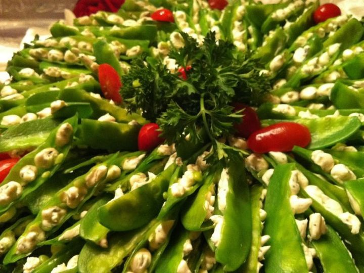 Tmx 1366820948565 Delicate Snow Peas Filled With Pearls Of Boursin Cheese Lexington, Kentucky wedding catering