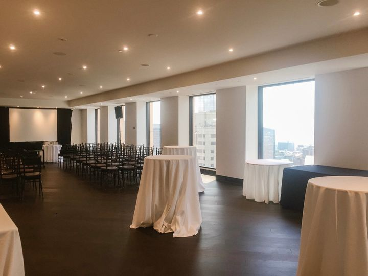 Tmx Cityside Corporate Classroom Set Up With Coccktail Tables And View 51 3758 158464409152322 Boston, MA wedding venue