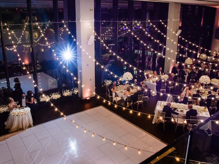 Tmx State Room Great Room From Above White Dance Floor Bistro Lights Marina Baklanova 51 3758 158464390524231 Boston, MA wedding venue