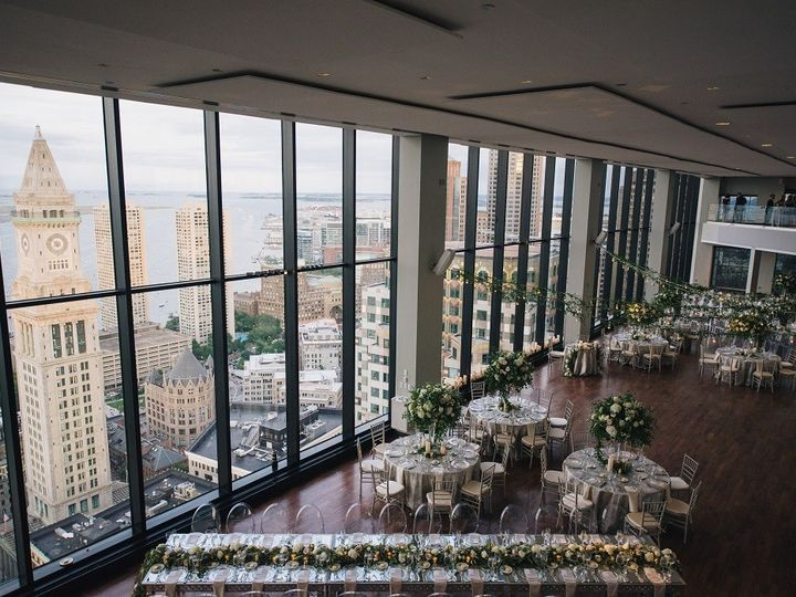 Tmx State Room Great Room Rounds And Rectangles With View Bistro Lights With Greenery Zev Fisher 51 3758 158464396130997 Boston, MA wedding venue