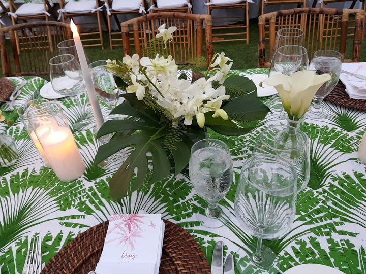 Lyford Cay Wedding Tables