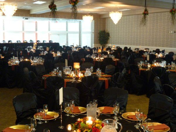 Table setup with candle centerpiece