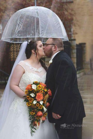 Kissing couple Kim Marshall Photography