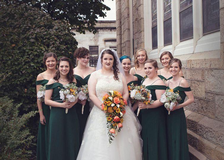 Bride squad Kim Marshall Photography