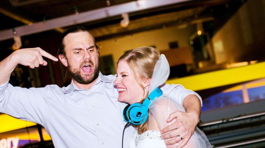 Bride with Dj Carve