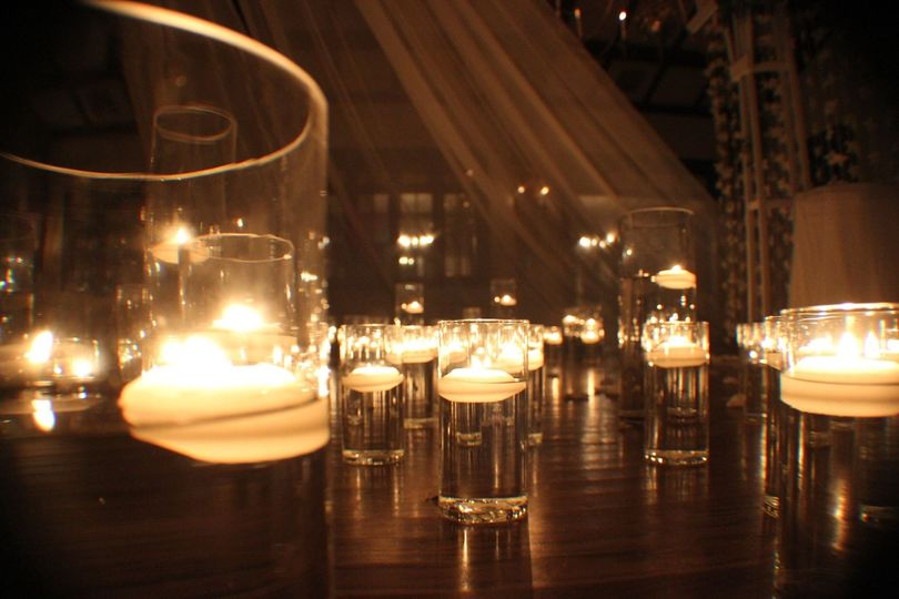 Candle lit setup