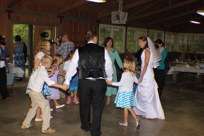 Circle dancing with the children