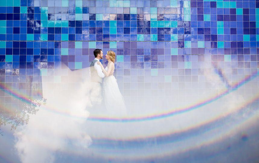 0c3e6c200969162a Austin Blue Wall Wedding Photo 2