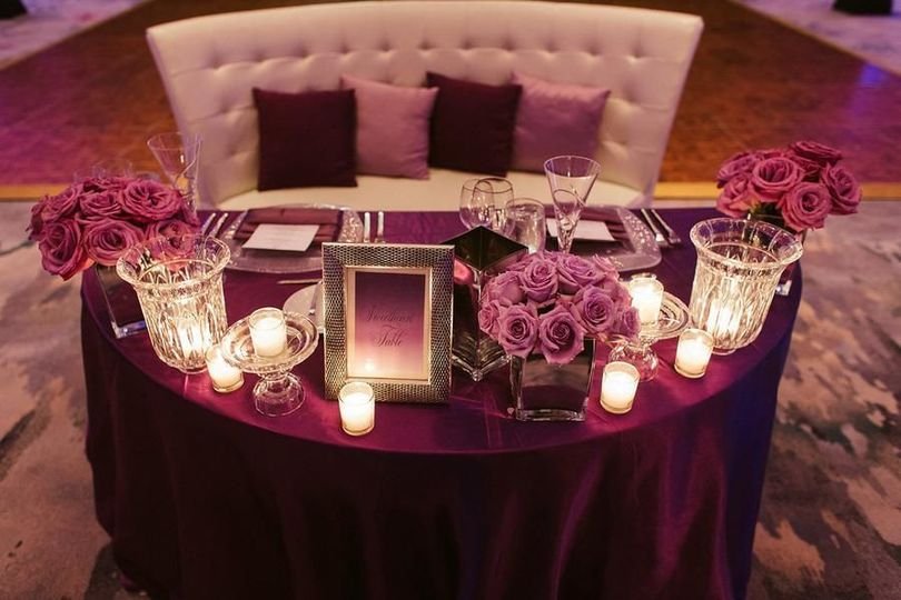 Dark purple linens | hotography by Cadence & Eli Photography