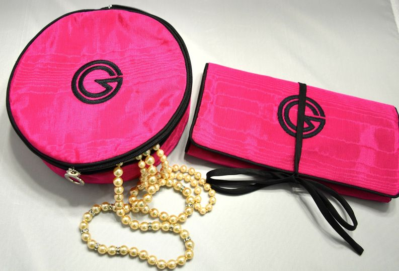 Pictured Left, Large Round Jewel.  On Right, Jewel Roll w/ Detachable Pocket.  Large Round Jewel has...