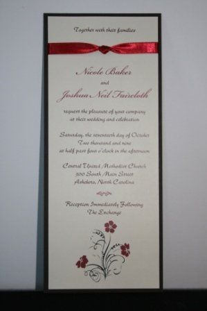 Tmx 1317946579475 Invitation11 Fuquay Varina wedding invitation