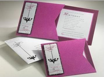 Chandelier Paper, Ink Pocket invitation