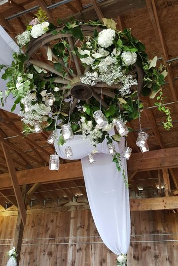 Flower decors for the ceiling