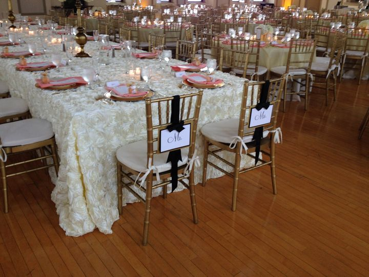 bride and grooms chairs north ballroom