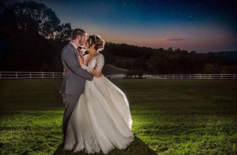 Beautiful evening weddings