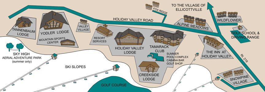 Holiday Valley Resort Map