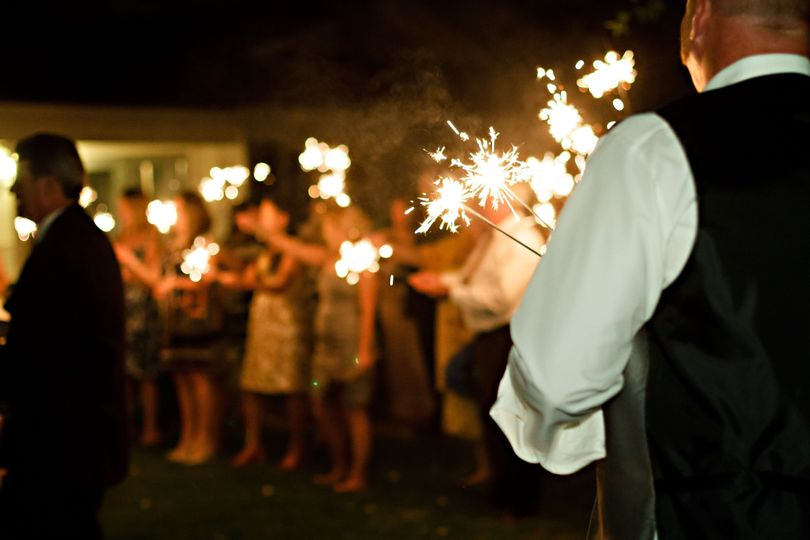 Love the sparkler exit! So fun! I get all the sparklers passed out and lit in record time!