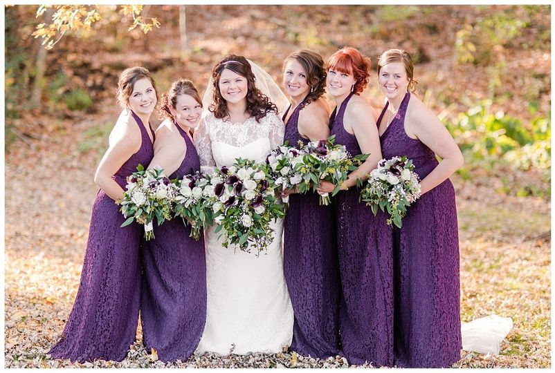 Purple Fall wedding