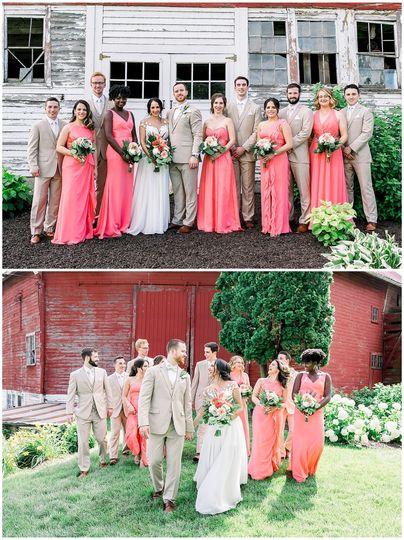 Summer Coral Wedding