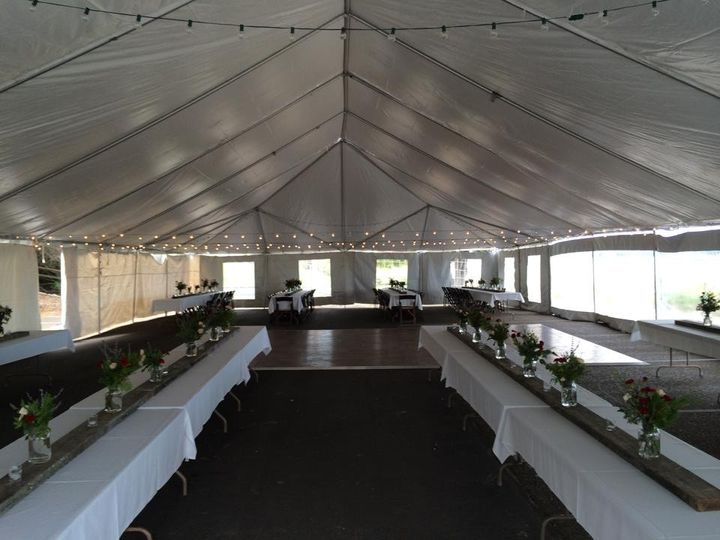 Long tables for guets