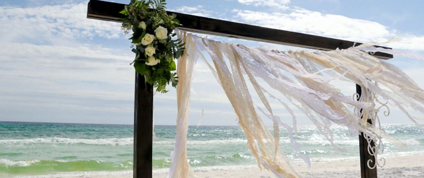 Gorgeous wedding arbor