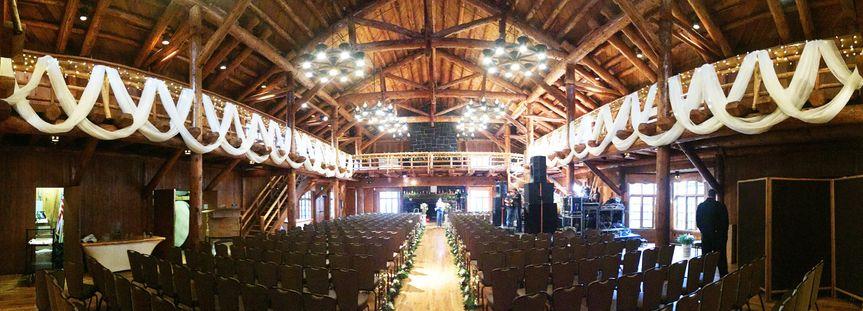 Draping Great Hall at Sunriver