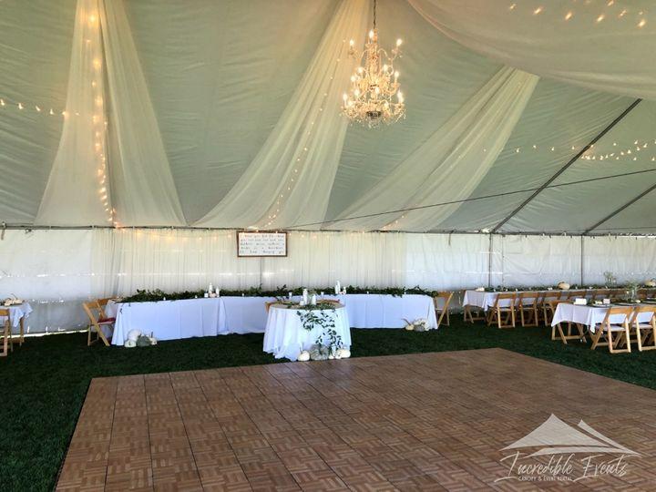 Tmx Canopy Chandeliers Chiffon Oak Dancefloor 51 473858 162095965887274 Bend, OR wedding rental