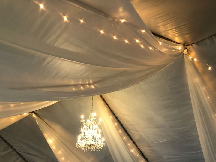 Tmx Canopy With Chiffon Cafe Lights Chandeliers 51 473858 162095965843231 Bend, OR wedding rental