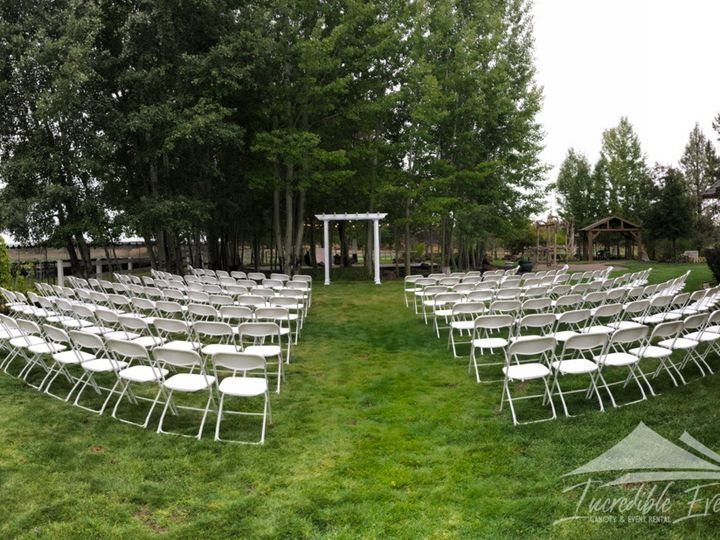 Tmx White Arch With White Fanned Chairs 51 473858 162096027014558 Bend, OR wedding rental