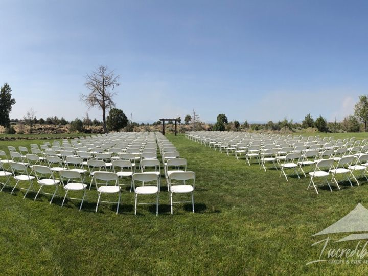 Tmx White Folding Chairs For 400 Guests 51 473858 162096026946104 Bend, OR wedding rental