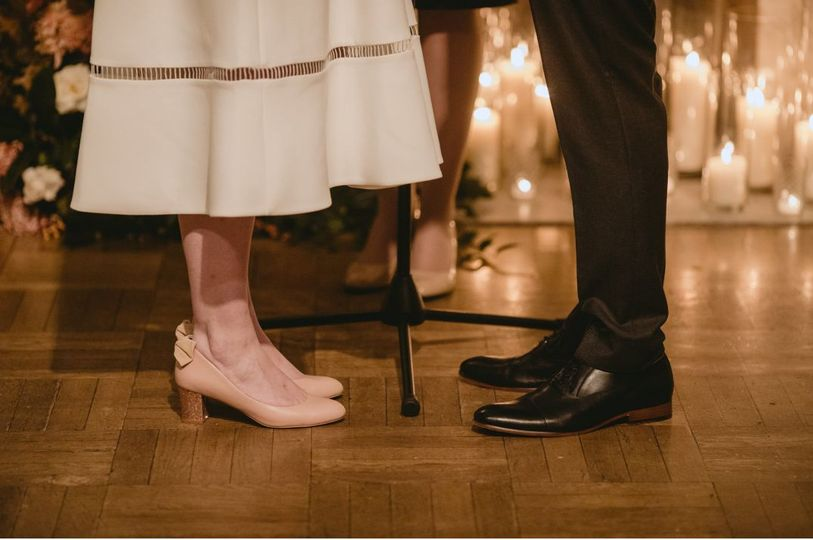 Newlyweds' shoes