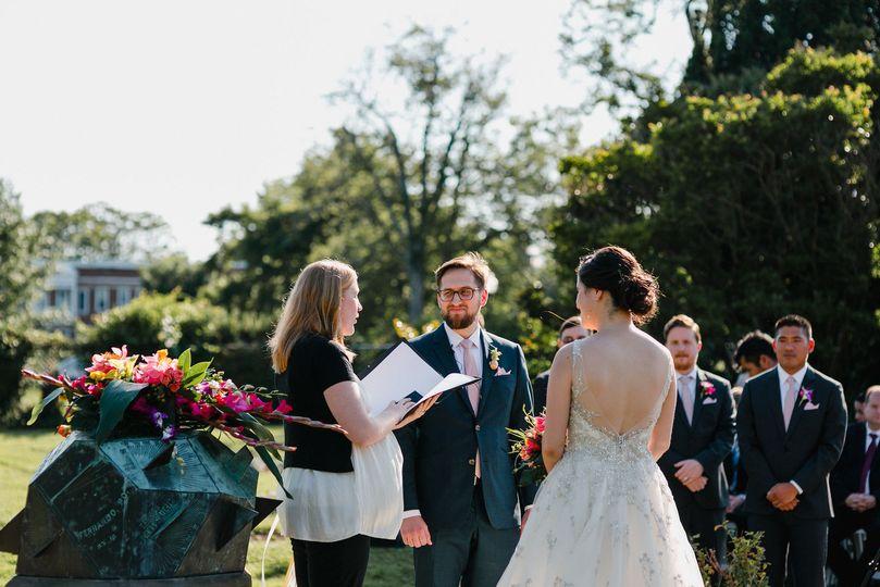 Leading the wedding ceremony