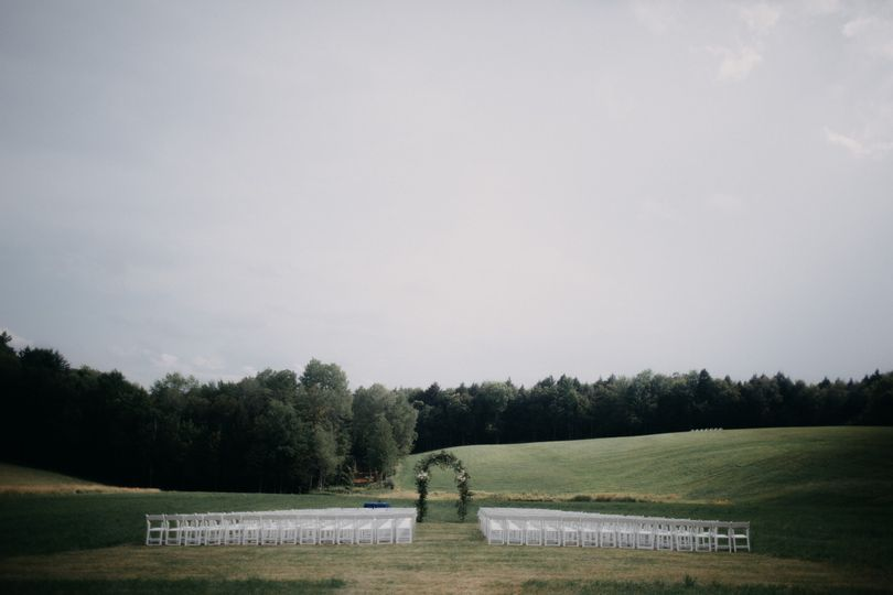 White garden chair - ceremony