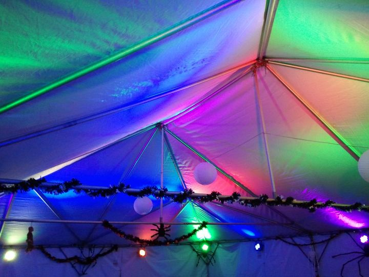 This is a sample of our computerized event up-lighting. This was a tent for a private event where...