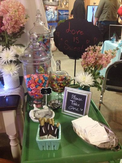 candy bar set up