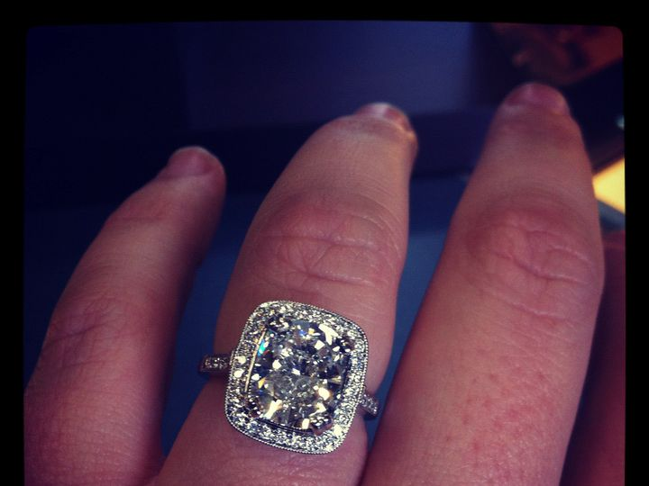 Tmx 1457045436134 Cushion E Ring Oak Lawn wedding jewelry