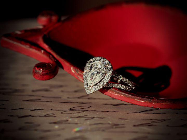 Tmx 1457045482232 Halo Pear Engagement Ring Oak Lawn wedding jewelry