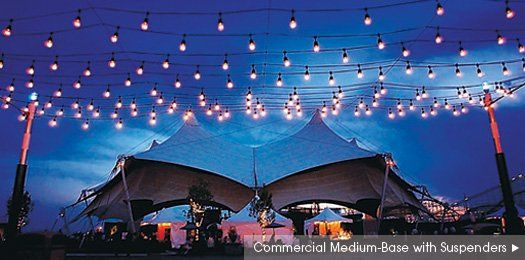Vintage Bistro String Lights by ArizonaUpLighting.com