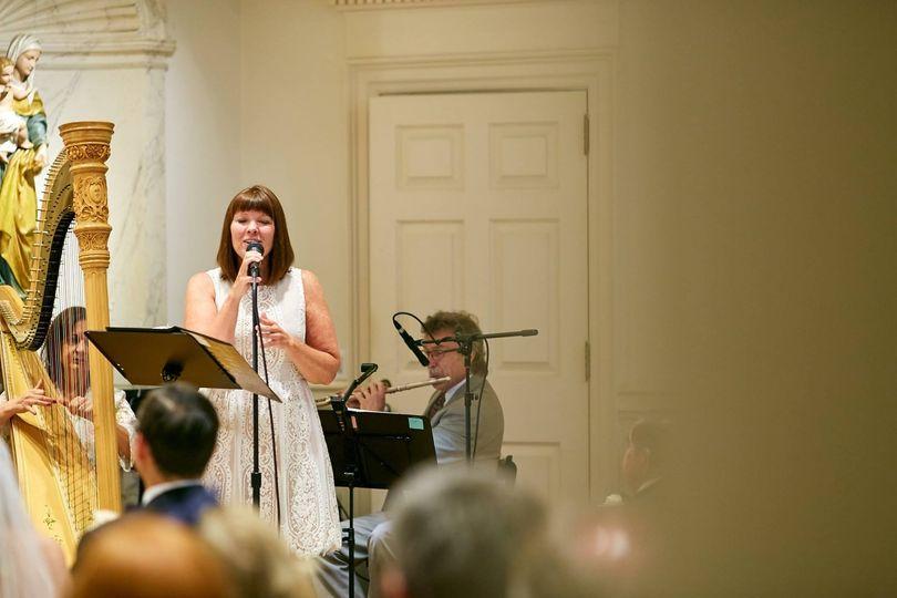 Maura singing in church