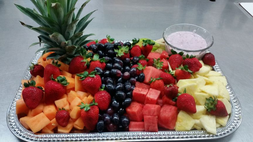 Fruit Platter with a Yogurt dip